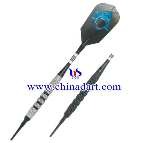 tungsten dart with soft tip
